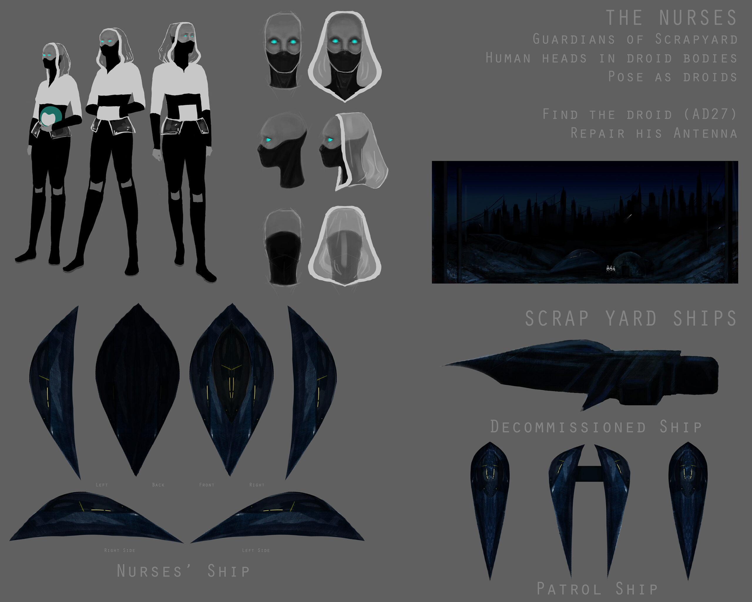 Aliens and Spacecraft Concepts (2018)